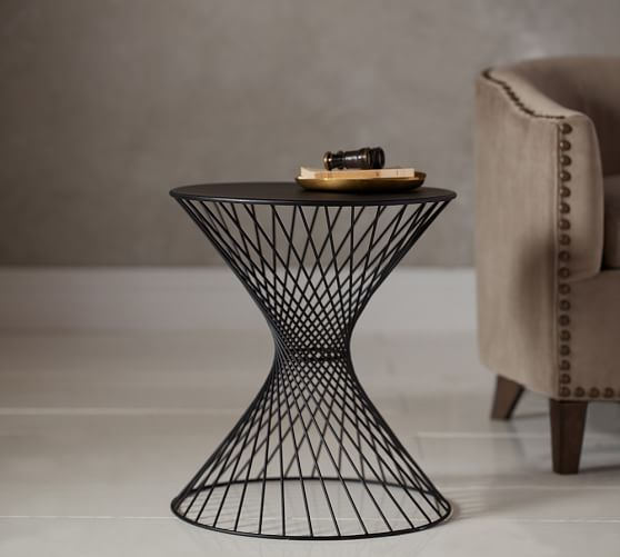 Porter Wire Accent Side Table Pottery Barn