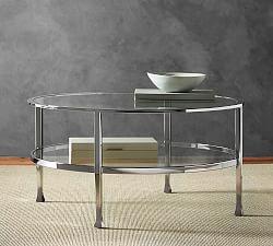 Torrey All Weather Wicker Round Coffee Table Espresso Pottery Barn