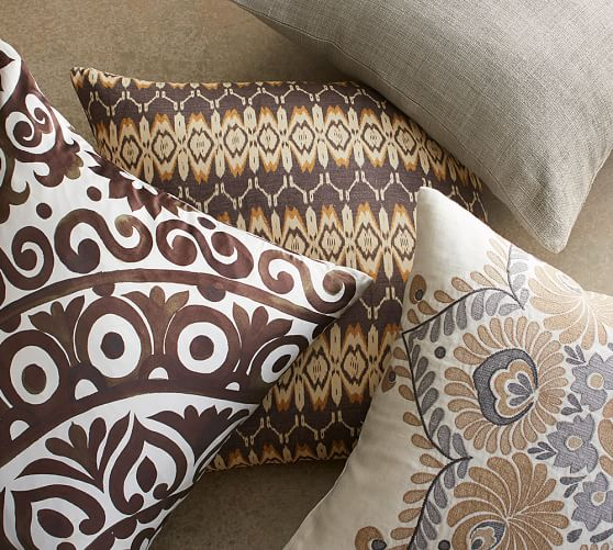 oversized suzani print silk pillow cover pottery barn. Black Bedroom Furniture Sets. Home Design Ideas