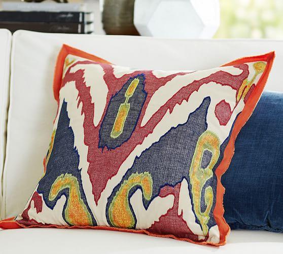 lafayette ikat pillow cover pottery barn. Black Bedroom Furniture Sets. Home Design Ideas