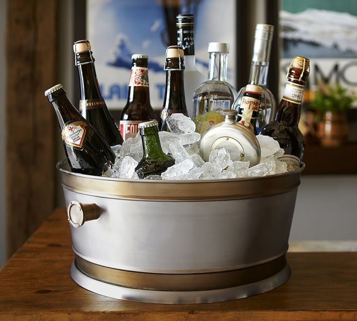 nwt pottery barn rye party ice bucket drink cooler large ebay. Black Bedroom Furniture Sets. Home Design Ideas