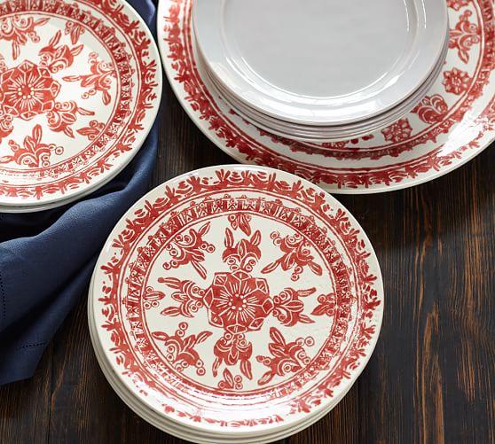 Pottery Barn Plates: Zamora Dinner Plate, Set Of 4