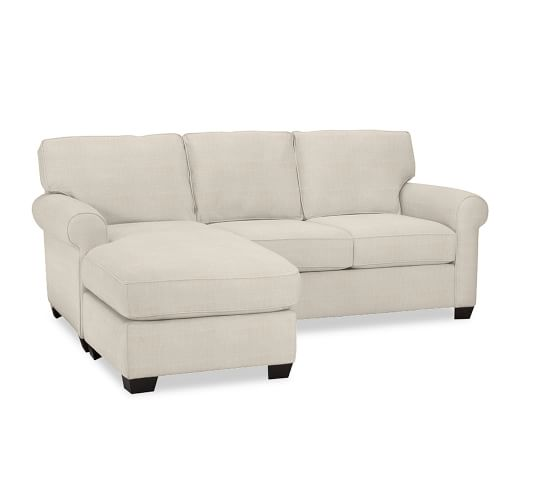 Buchanan roll arm upholstered sofa with reversible chaise for Albany sahara sectional sofa chaise