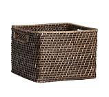 Clive Square Handled Utility Basket, Espresso