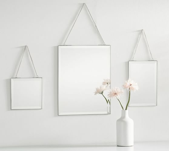 Hanging Beveled Mirrors Set Of 3 Pottery Barn