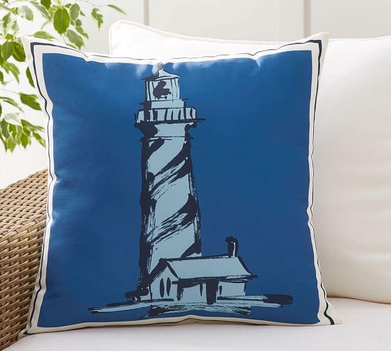 Lighthouse Indoor Outdoor Pillow
