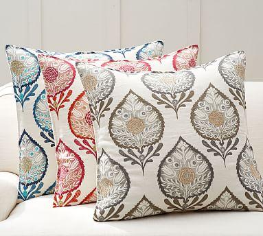 Anisha Appliqu 233 Pillow Cover Pottery Barn