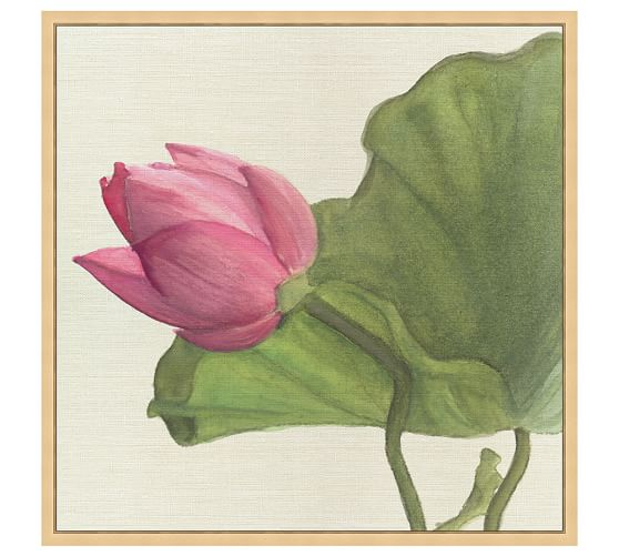Lily on Linen Canvas, 30 x 30