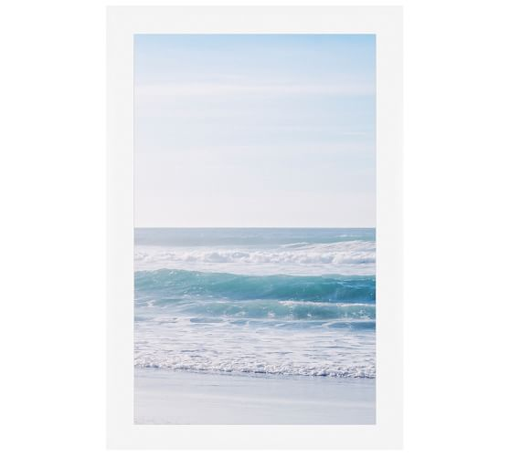 Turquoise Seas Framed Print by Cindy Taylor, 28 x 42