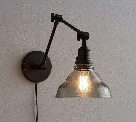 Items Similar To Wall Sconce Lighting: PB Classic Articulating Sconce - Vintage Glass