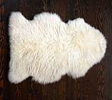 Sheepskin Rug, 2x3', Ivory