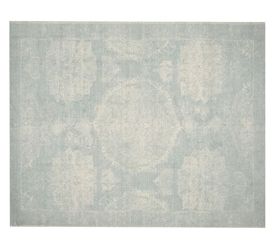 Why Adding A Rug Under Dining Table Sets Is A Must: Barret Printed Rug - Porcelain Blue