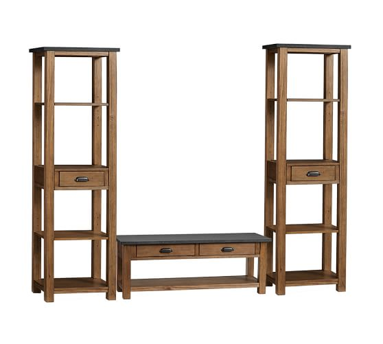 Channing 3 Piece Bench Tower Entryway Set Pottery Barn