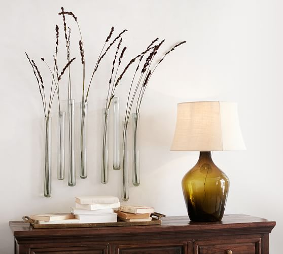 Reed Wall Mount Recycled Glass Vase Pottery Barn