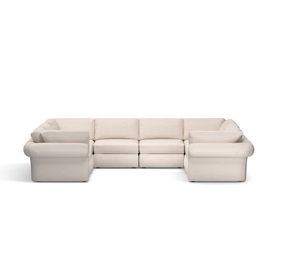 Pb Air Upholstered 8 Piece U Shaped Sectional Pottery Barn