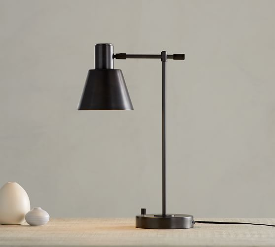 Campbell Task Lamp With Usb Ports Pottery Barn