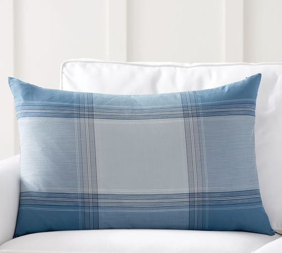 tate plaid silk lumbar pillow cover pottery barn. Black Bedroom Furniture Sets. Home Design Ideas