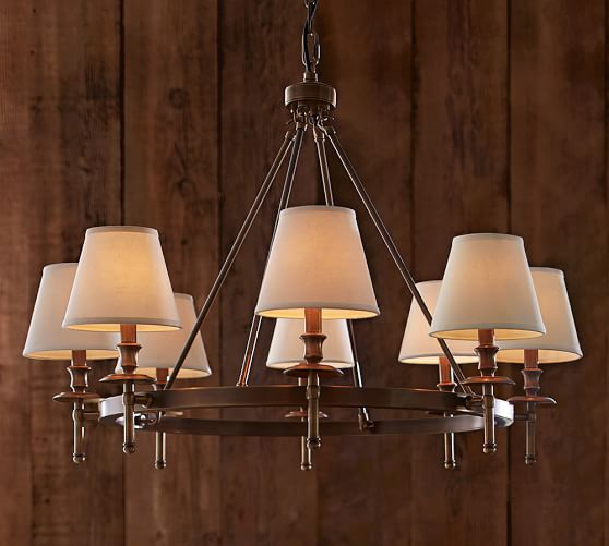 Collins Chandelier - Aged Brass | Pottery Barn