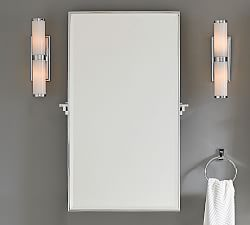 Eagan Multipanel Large Mirror Silver Pottery Barn