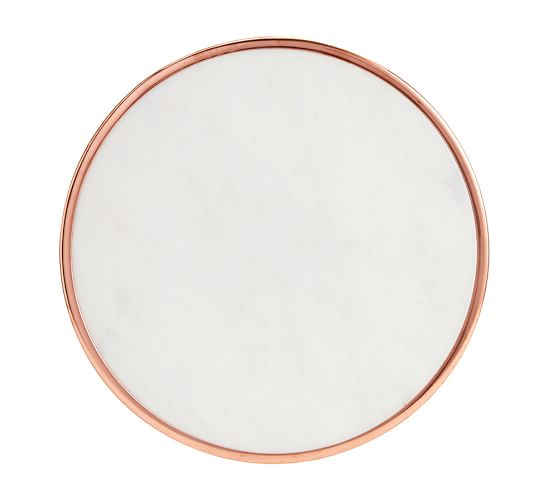 marble and copper lazy susan pottery barn. Black Bedroom Furniture Sets. Home Design Ideas