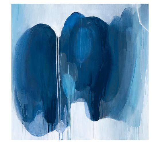Blue Hues Canvas, 20 x 20