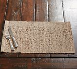 Nubby Woven Rectangular Placemat, 14 x 20
