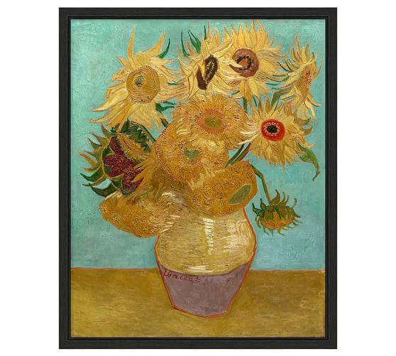 Sunflower Still Life Canvas, 17 x 21