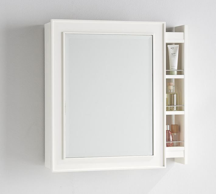 wall mounted  recessed medicine cabinets  pottery barn, Bathroom decor