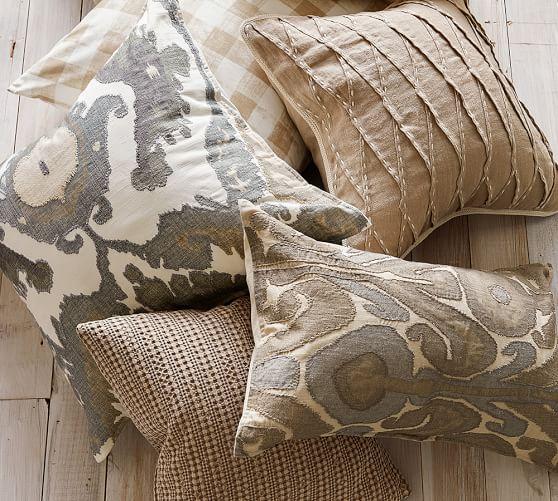 hudson ikat pillow cover pottery barn. Black Bedroom Furniture Sets. Home Design Ideas