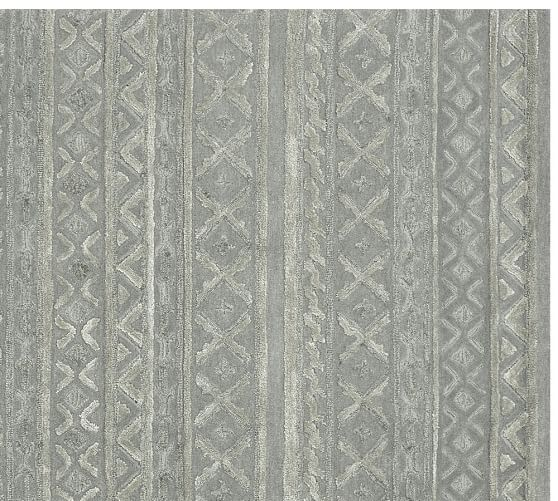 Why Adding A Rug Under Dining Table Sets Is A Must: Adrina Sculpted Rug - Gray