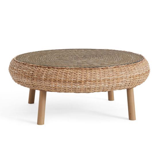 Timber Rattan Coffee Table: Santa Ana Woven Coffee Table