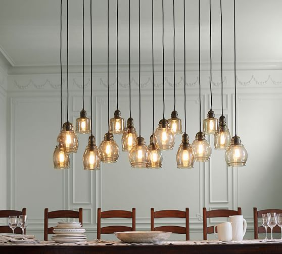 paxton glass 16 light pendant pottery barn. Black Bedroom Furniture Sets. Home Design Ideas