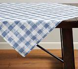 Rhett Check Table Throw, Blue