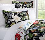 Poppy Botanical Reversible Duvet Cover, Full/Queen, Multi