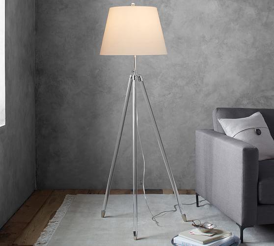 Acrylic Tripod Floor Lamp Pottery Barn