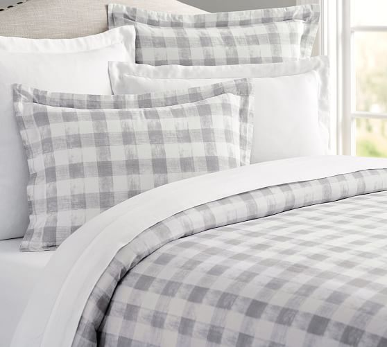 Rhett Check Print Duvet Cover Amp Sham Pottery Barn