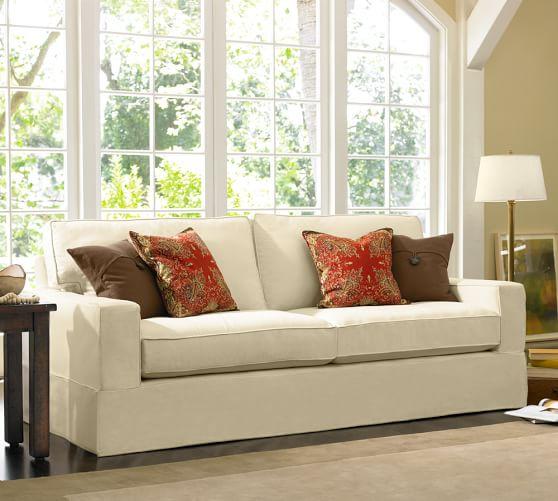 Pb Comfort Square Arm Grand Furniture Slipcovers Pottery