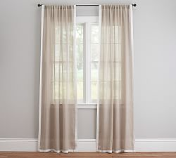 sheer curtains window sheers pottery barn. Black Bedroom Furniture Sets. Home Design Ideas