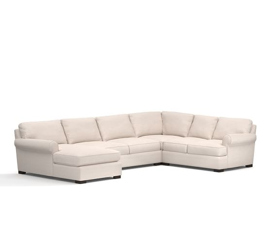 townsend upholstered 4 piece sectional with chaise
