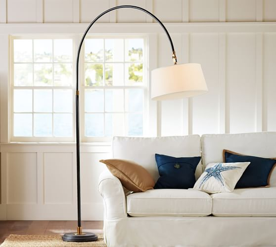 winslow arc sectional floor lamp pottery barn. Black Bedroom Furniture Sets. Home Design Ideas