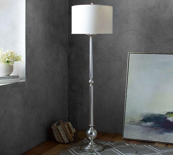 Gillian Candlestick Floor Lamp Base Pottery Barn
