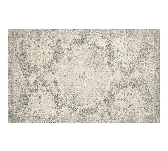 Barret Printed Wool Rug, 3x5', Gray