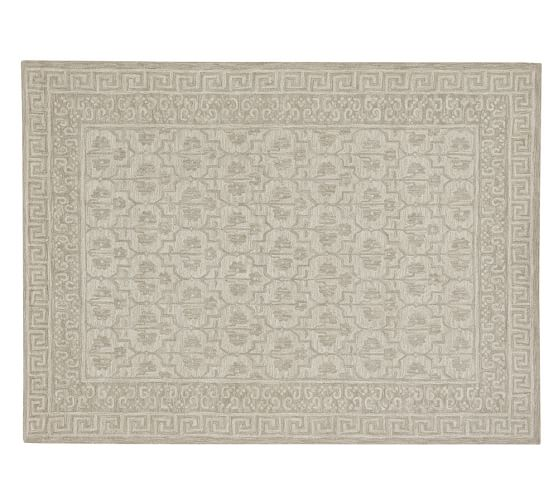 Braylin Tufted Wool Rug, 9x12', Ivory