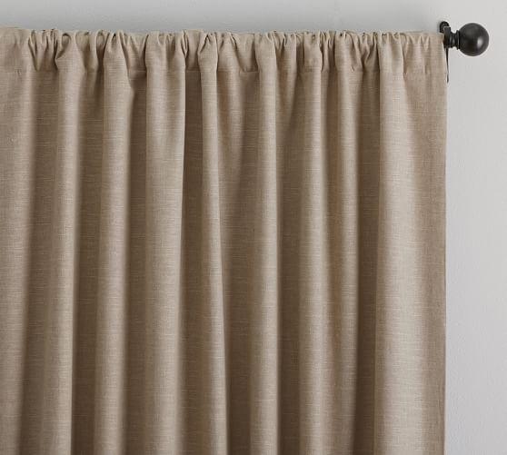 emery linen cotton drape pottery barn. Black Bedroom Furniture Sets. Home Design Ideas