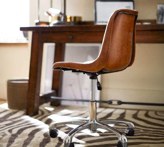 Mitchell swivel desk chair pottery barn - Pottery barn office desk ...