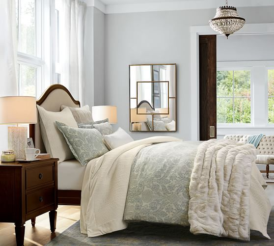 Samantha Damask Sateen Duvet Cover Amp Sham Pottery Barn