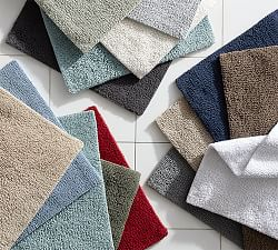 Bath rugs mats pottery barn for Pottery barn carpet runners