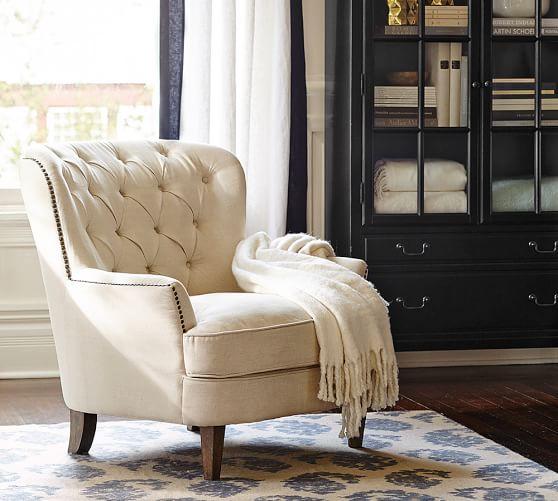Corner Sofa Sale Cardiff: Cardiff Tufted Upholstered Armchair