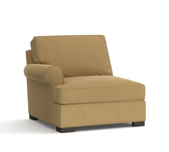 Townsend Upholstered Left Arm Chair, Polyester Wrapped Cushions, Performance Everydaysuede™ Nutmeg