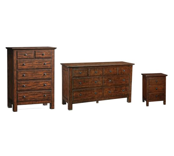 Mason dressers bedside table set pottery barn for 12 wide bedside table